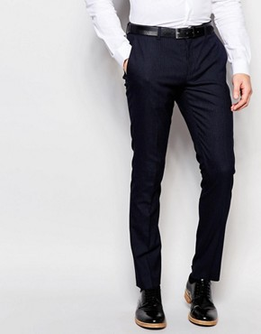 Selected Homme Skinny Smart Trousers In Pin Dot
