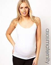 ASOS Maternity Exclusive Longline Cami with Ruching