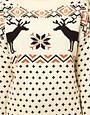 Image 3 of ASOS Christmas Sweater In Reindeer Fairisle