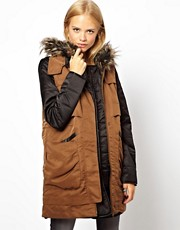 Parka con chaleco de ASOS