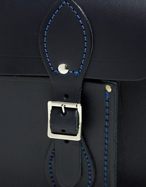 Image 4 ofCambridge Satchel Company 11&quot; Navy Matt Satchel