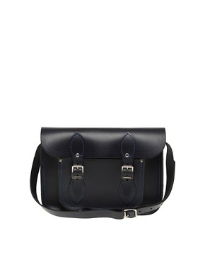 Image 1 ofCambridge Satchel Company 11&quot; Navy Matt Satchel