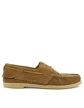 Image 4 ofASOS Fringe Boat Shoes With Crepe Sole