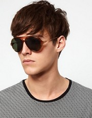 ASOS Plastic Aviator Sunglasses
