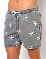 ASOS Swim Shorts With Star Print