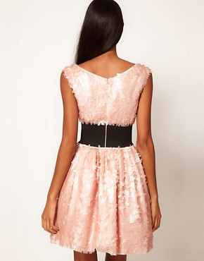 Image 2 ofASOS Sequin Prom Dress with Deep Waistband