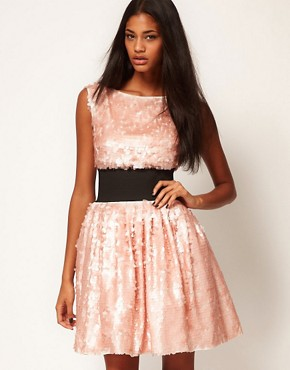 Image 1 ofASOS Sequin Prom Dress with Deep Waistband