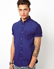 River Island Short Sleeve Shirt with Aztec Pocket