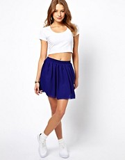 American Apparel Double Layered Chiffon Skater Skirt