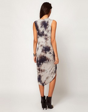 Image 2 ofGlamorous Hi Lo Dress in Tie Dye with Studded Shoulder