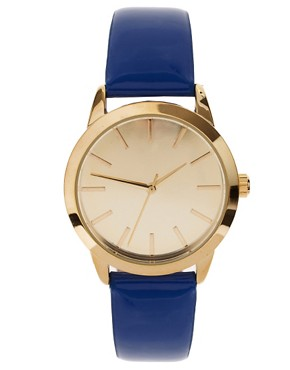 Image 1 of ASOS Patent Color Watch