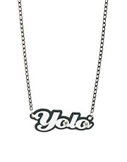 Funky Bling Yolo Short Chain Necklace