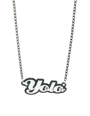 Image 1 ofFunky Bling Yolo Short Chain Necklace