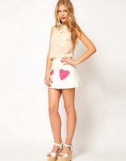 ASOS Quilted Mini Skirt With Heart Pockets