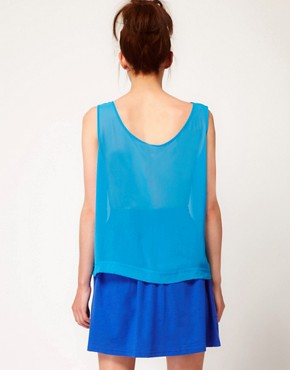 Image 2 ofAmerican Apparel Chiffon Tank Top