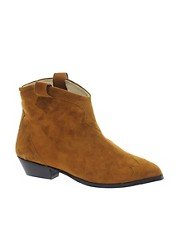 Ganni Tabitha Tan Cowboy Ankle Boots