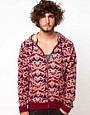 Image 1 ofASOS Zip Through Hoodie With Baroque Print