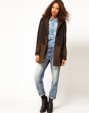 Image 4 ofASOS Nylon Mix Duffle Parka