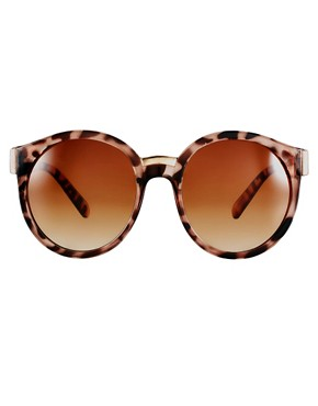 Image 2 ofASOS Round Sunglasses With Mixed Bridge Detail