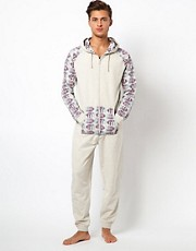 River Island Aztec Sleeve Onesie
