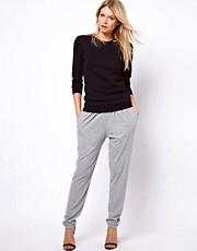 ASOS Peg Trousers in Grey Marl