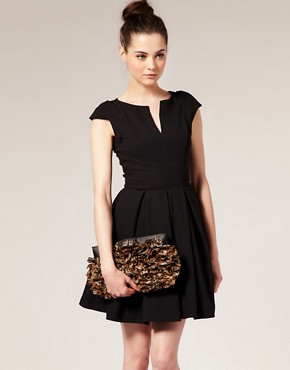 Image 3 ofASOS Leopard Chiffon Ruffle Clutch