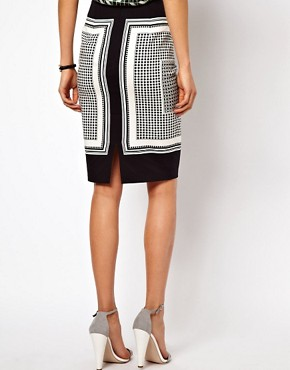 Image 2 ofASOS Pencil Skirt in Scarf Print