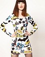 Image 1 ofLazy Oaf x Batman Exclusive Bodycon Dress In Logo Print