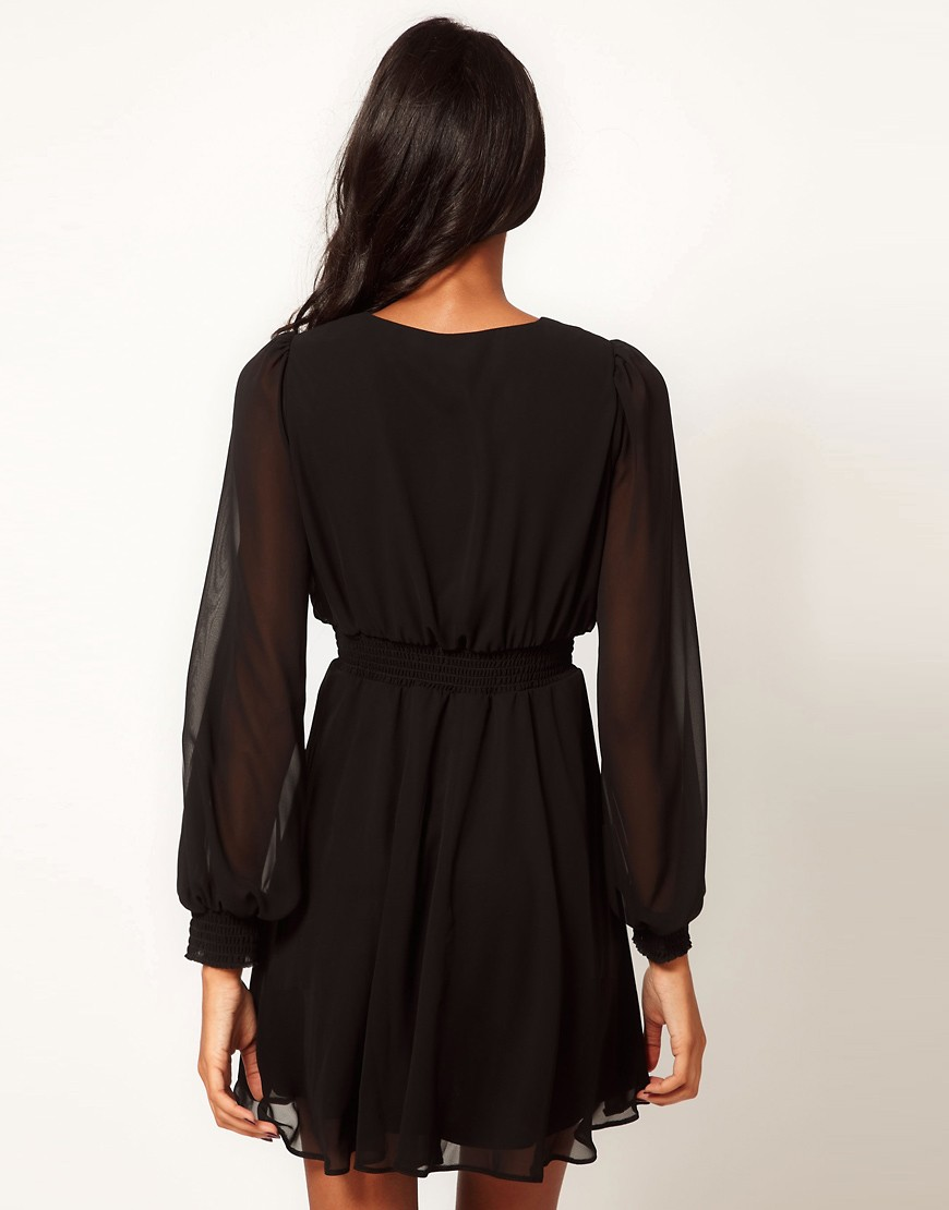 Image 2 of ASOS Wrap Dress With Long Sleeves