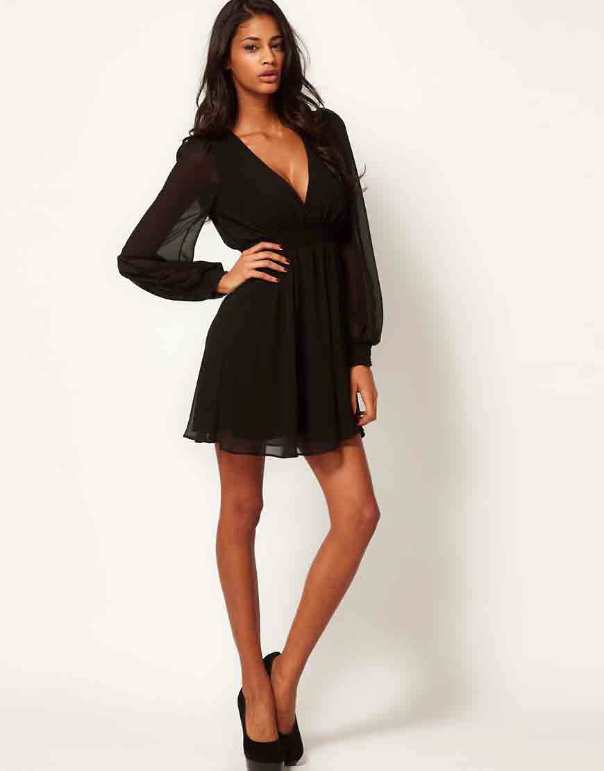 Image 4 of ASOS Wrap Dress With Long Sleeves