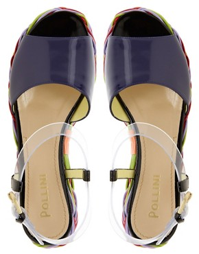 Image 3 ofPollini for Louise Gray Flatform Peep Toe Sandals