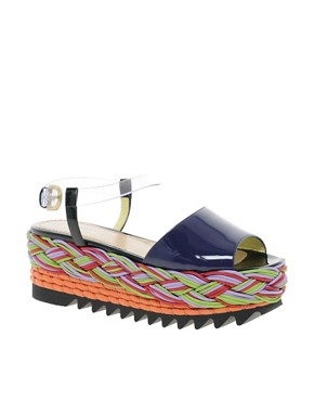 Image 1 ofPollini for Louise Gray Flatform Peep Toe Sandals
