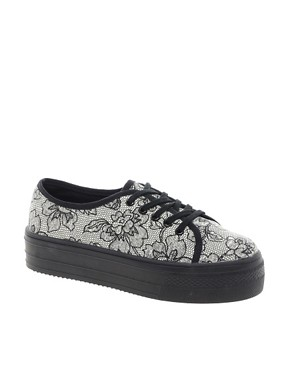 Image 1 ofASOS DERBY Flatform Trainers