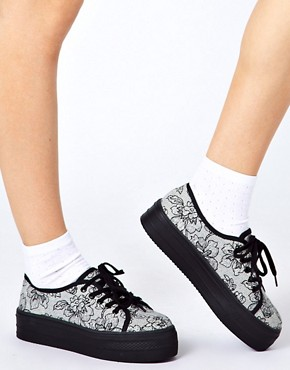 Image 3 ofASOS DERBY Flatform Trainers