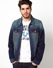True Religion Denim Jacket Zip Front