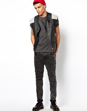 Image 4 ofHorace Leather Front Biker Gilet