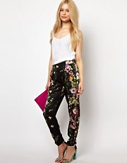 River Island Drape Pant In Floral Print