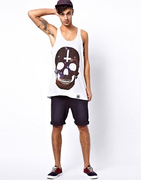 Image 4 ofAbandon Ship Vest with Universe Skull Print