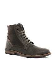 Feud Vicious Shearling Lined Military Boots