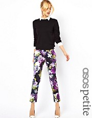 ASOS PETITE Exclusive Pants In Floral Print