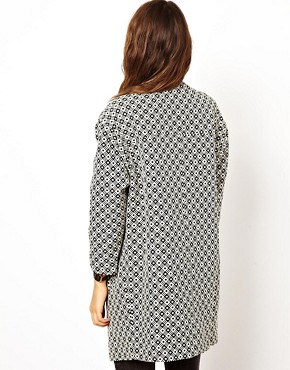 Image 2 ofASOS Geo Pattern Coat