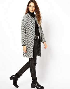 Image 4 ofASOS Geo Pattern Coat