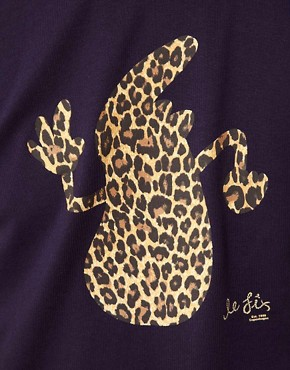 Image 3 ofLe Fix T-Shirt Leopard Print