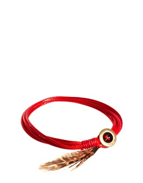 Image 1 ofASOS String and Feather Bracelet