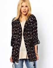 Free People - Parka con stampa ikat