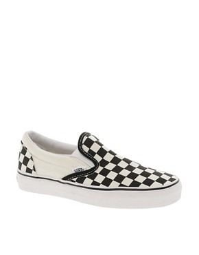 Image 1 ofVans Classic Checkerboard Slip On Plimsolls