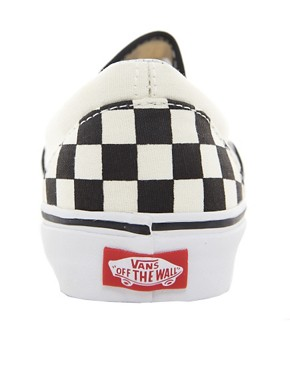 Image 2 ofVans Classic Checkerboard Slip On Plimsolls