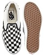 Image 3 ofVans Classic Checkerboard Slip On Plimsolls