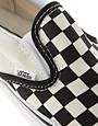 Image 4 ofVans Classic Checkerboard Slip On Plimsolls
