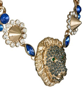 Image 4 ofASOS Lion Head Chunky Link Necklace